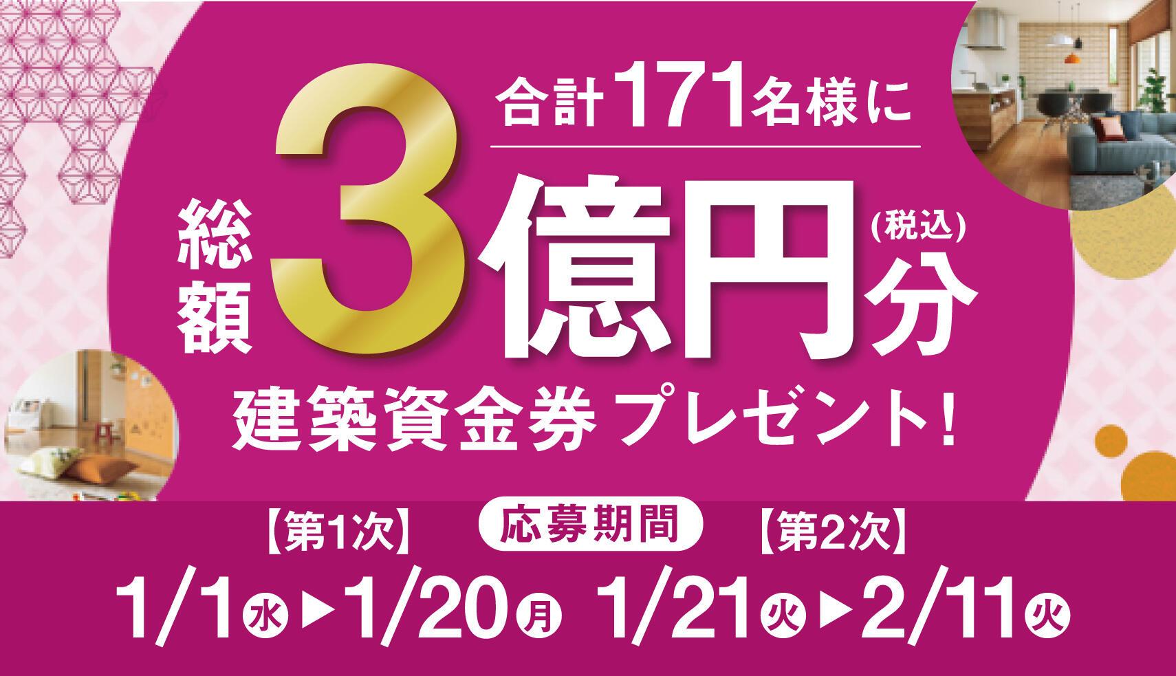 新春3億円CP